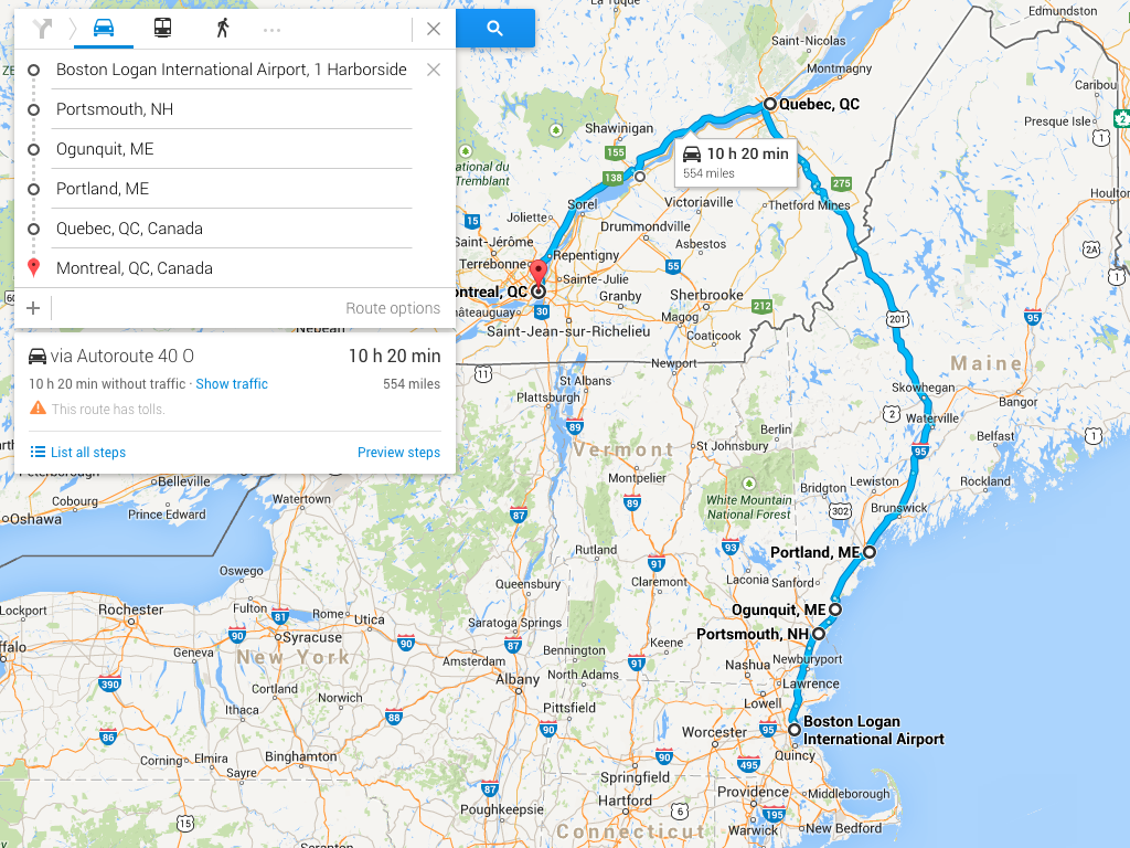 Map Of New England And Quebec.An Epic New England Road Trip Places You Need To Know