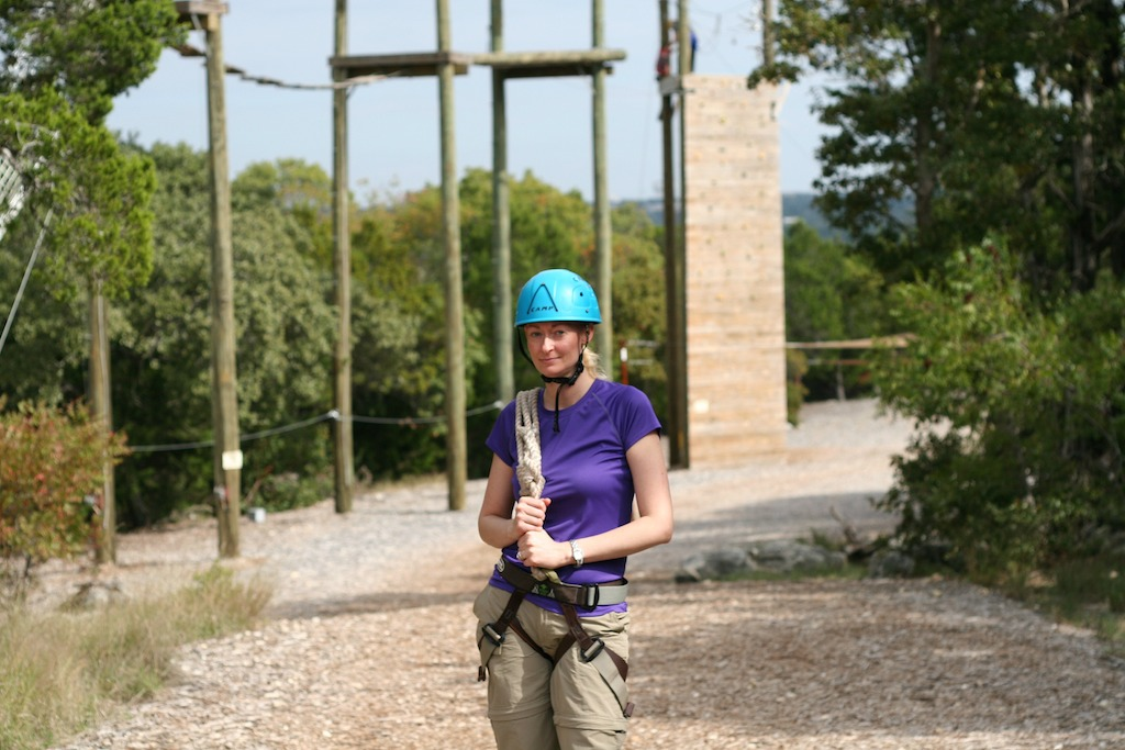 Me on the Challenge Course