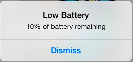 iPhone Low Battery Indicator
