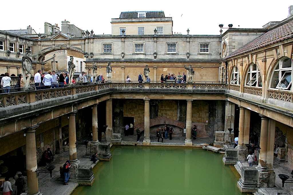 Roman Baths Inside - Bath, England