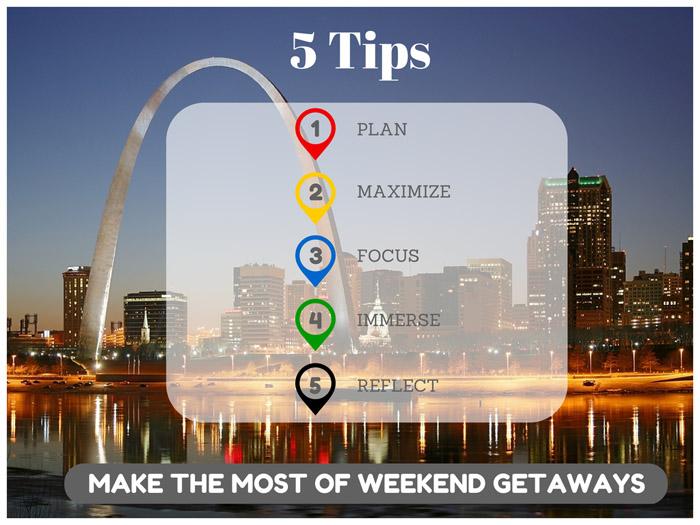 5 Tips Weekend Getaways