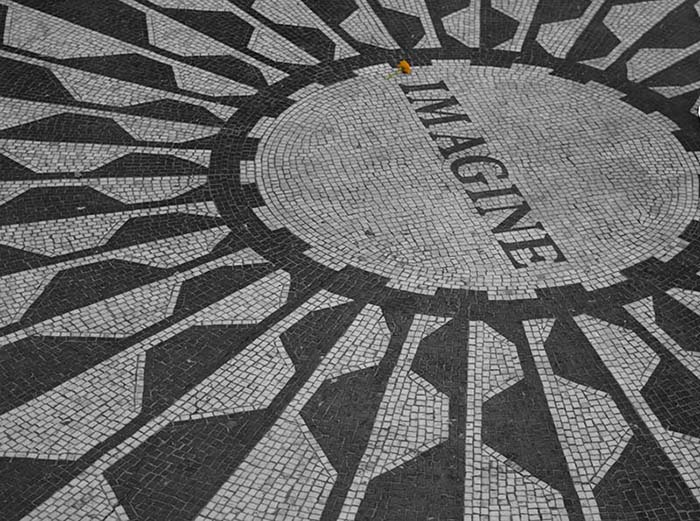 Imagine Mosaic Strawberry Fields Central Park