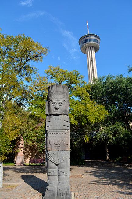 Aztec Statue Tower