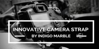 Indigo Marble Camera Strap