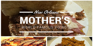 Mothers New Orleans Menu