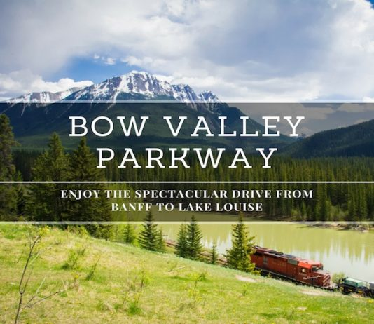 drive from banff to lake louise