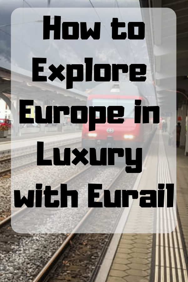 Traveling around Europe by train is one of those experiences that should really be on everyone's bucket list. Check out how different luxury travel is on a train from our experience through Europe. #train #Eurail #luxury #FirstClass #TrainTravel