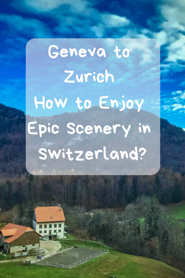 The train journey from Geneva to Zurich offers visitors the opportunity to experience a little bit of everything that Switzerland has to offer and it's a route that you can easily enjoy in only 24 hours! #Geneva #Zurich #train #landscape
