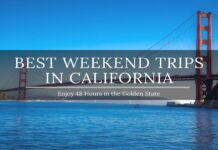 weekend trips in california